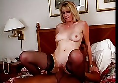 Hot Fair-haired Of age Cougar..