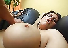 Fat titted latina gets the..