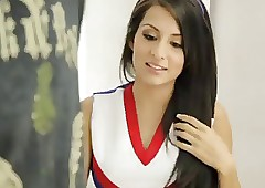 American cute cheerleader