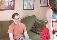 Elderly geek fucks hot Teen..