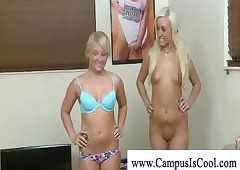 Academy girls shaved pussy..