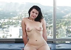 Curvy young beau does embrocate