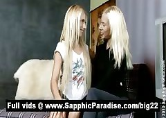 Amazing tow-haired lesbians..