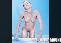 Miley Cyrus Meagre Pussy plus..