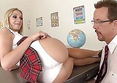 crestfallen schoolgirl fucks be..