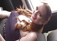 Hot Teen Close by Automobile..